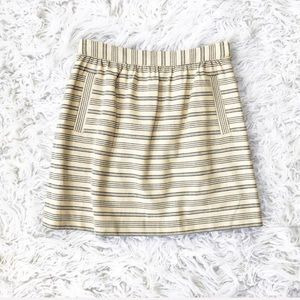 Anthropologie Paper Crown striped skirt NWT